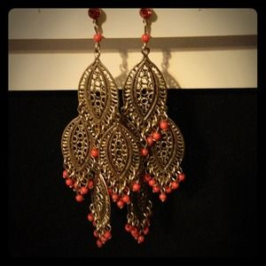 Jewelry - Coral earrings