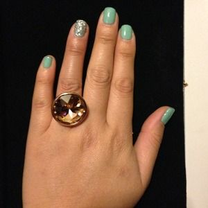 Jewelry - 18k rosegold plated cocktail ring