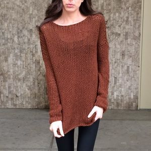 Vince String Knit Burgundy Sweater