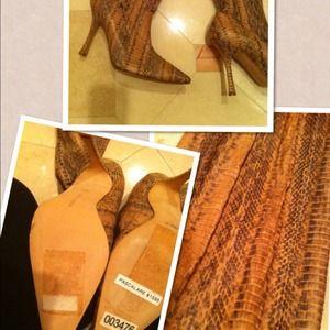 Manolo Blahnik Shoes - Manolo Blahnik 🌹NEW 🌹Snake Pattern Boots.⤵