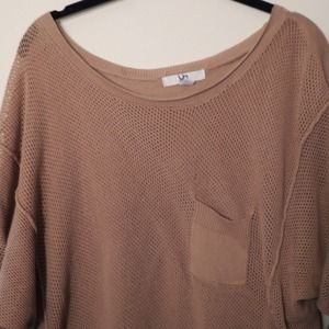 Slouchy Open-Knit Batwing Top