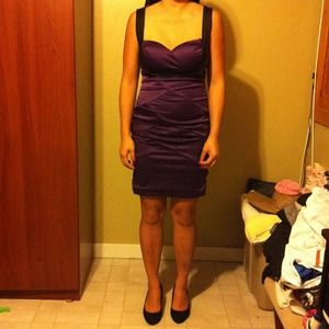 Dresses & Skirts - Purple and black cocktail dress