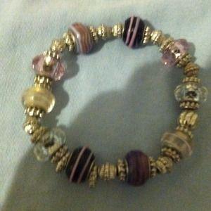 Jewelry - purple and silver bracelet