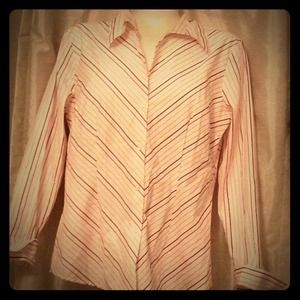 Tops - Candy Stripe Long Sleeve Blouse