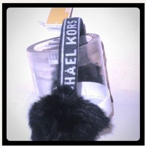 Michael Kors Accessories - Michael Kors Earmuffs w/ Real Rabbit Fur