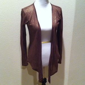 Anthropologie Sweaters - NEW Brown sparkle open knit cardigan Anthropologie