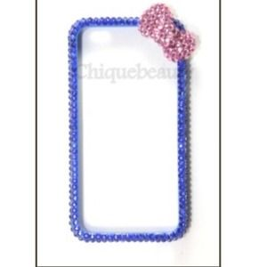 Accessories - Blue Bling Hello Kitty Bumper iPhone 4/4S