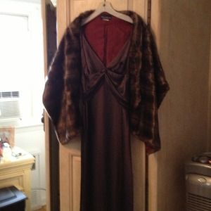 New listing: A.B.S. Evening with Faux Fur wrap