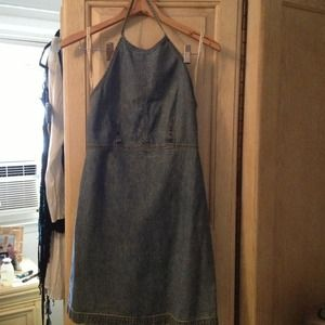 GAP Denim - Denim mini halter dress