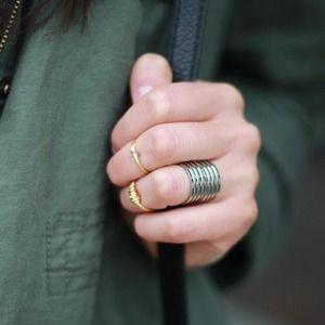 Set of 2 Riveted Steel Rings