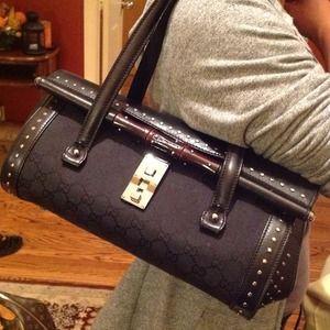NO LONGER AVAILABLE! Black Gucci studded handbag