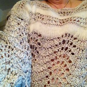 Sweaters - Ladies knit sweater champagne color