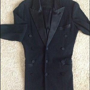 Tuxedo style black Jean Paul Gaultier Femme blazer