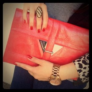 BCBGeneration Bags - NWOT Coral Clutch 1