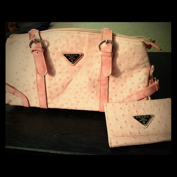 bf0cab5c04ad7e *Knockoff Prada pink ostrich leather bag* RESERVED.  M_5074ca6f52ab060c3c043578