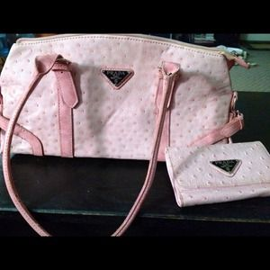 d2f9acf00dc20f Prada Bags | Knockoff Pink Ostrich Leather Bag Reserved | Poshmark