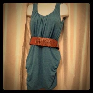 Dresses & Skirts - NWOT 👗 Cute Belted Blue Dress