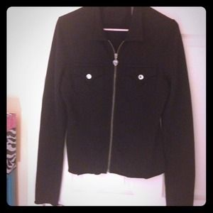 Jackets & Blazers - Twisted Heart black top with jewel pockets Sz.-Med