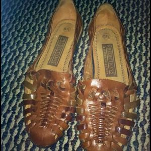 Shoes - Brown sandal-like shoes size 6.5