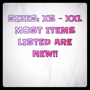 NEW ITEMS LISTED! SHOP SIZES: XS - XXL