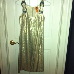 Gold silk Tory Burch Dress