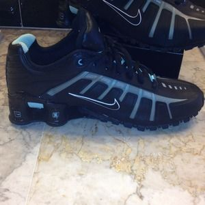 Nike Shoes - NIKE Shox O leven...black with turquoise aqua c4ede85499