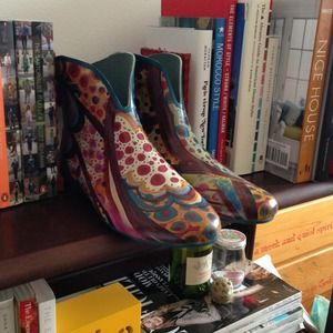 Jeffrey Campbell printed rain booties *reduced 2x*