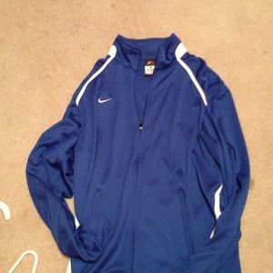 Nike dri-fit blue zip up!