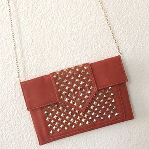 Handbags - Studded Clutch Cross Body bag