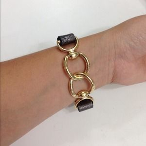 Natasha Accessories - Brand new leather and link bracelet