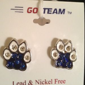 Jewelry - Rhinestone Cat Paw Earrings❤