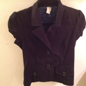 Jackets & Blazers - REDUCED Vintage black blazer - short sleeves