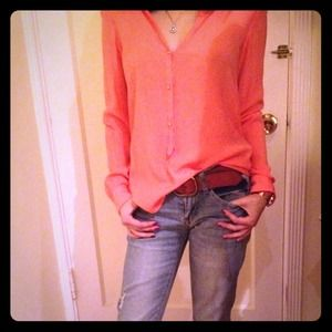 Zara Tops - RESERVED!!Coral blouse