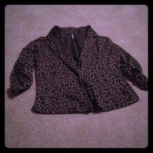 Jackets & Blazers - Cheetah blazer reserved