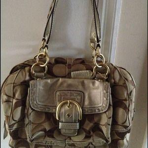 Authentic Coach signature bag