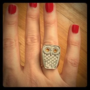 Accessories - Silver owl ring, size 7