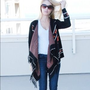 Sweaters - Aztec wrap sweater