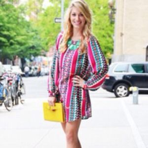Dresses & Skirts - Colorful printed long sleeve dress