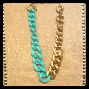 Jewelry - Blue and Gold Chain Necklace