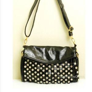 SALE ⬇ Black Diamond faux leather messenger bag