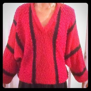 Sweaters - Vintage red/black sweater