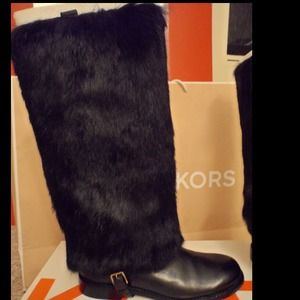 RESERVED NEW Michael Kors Rabbit Fur&Leather Boots