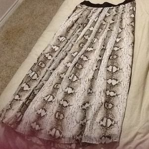 f04d31525d21d White House Black Market Skirts | Snake Print Chiffon Maxi Skirt ...