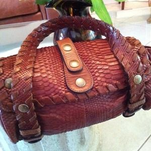 Chloe Handbags - Gasp Worthy Chloe  Python Leather Silverado Bag