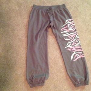 Pants - Zebra print sweats bundle reserved
