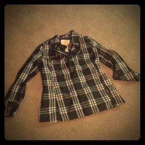 Jackets & Blazers - Lg Plaid rain jacket reserved bundle