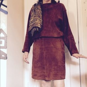 Dresses & Skirts - Tan suede dress