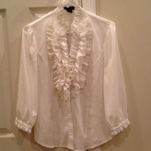 Tops - 3/4-sleeve ruffle top, so fun & frilly!