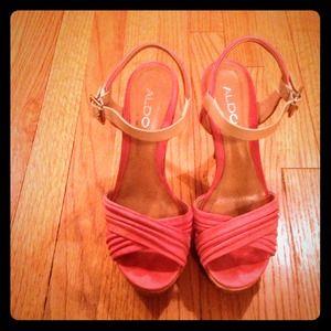ALDO pink heels & filigree bracelet