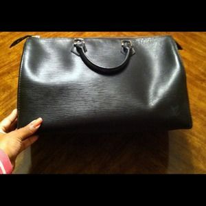 Louis Vuitton Handbags - Louis Vuitton Epi Noir Speedy 35